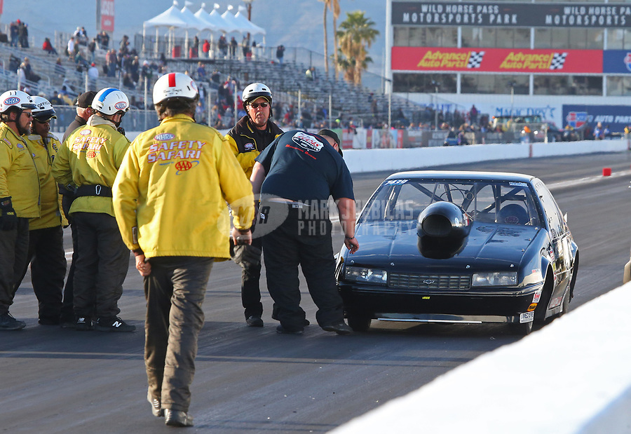 Feb 25, 2019; Chandler, AZ, USA; NHRA super gas driver Clint Fishel during the Arizona Nationals at Wild Horse Pass Motorsports Park. Mandatory Credit: Mark J. Rebilas-USA TODAY Sports