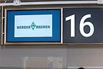 19.06.2020, airport, Bremen, GER, 1.FBL, Werder Bremen Training, Ankunft der Spieler am Freitag nachmittag auf dem Bremer Airport am Gate 16 zum Abflug nach Mainz zum Bundesligaspiel<br /> im Bild <br /> <br /> Feature Lufthansa Check IN - 16  wie Platz 16<br /> Foto © nordphoto / Kokenge