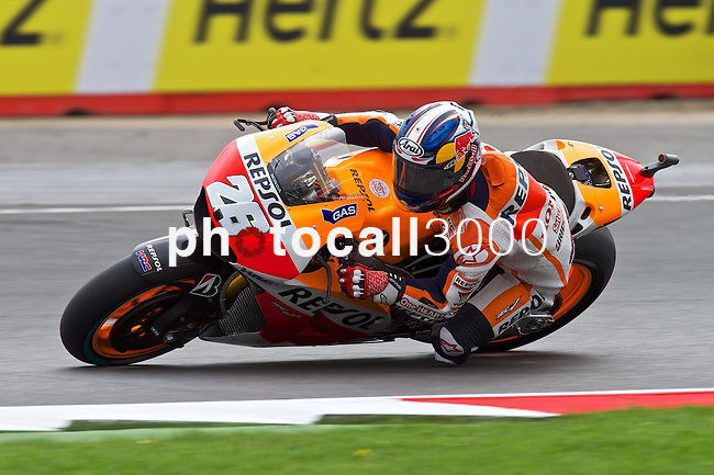 hertz british grand prix during the world championship 2014.<br /> Silverstone, england<br /> August 28, 2014. <br /> FP MotoGP<br /> dani pedrosa<br /> PHOTOCALL3000/ RME