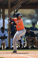 Houston Astros Luis Reynoso (6) during a minor league spring training game against the Detroit Tigers on March 25, 2015 at Tiger Town in Lakeland, Florida.  (Mike Janes/Four Seam Images)