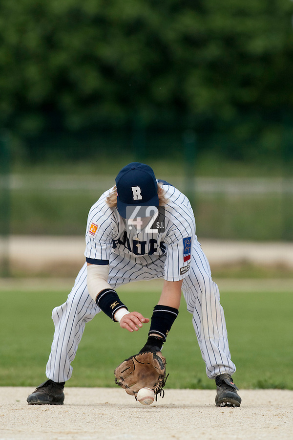 21 May 2009: Luc Piquet of Rouen is seen during the 2009 challenge de France, a tournament with the best French baseball teams - all eight elite league clubs - to determine a spot in the European Cup next year, at Montpellier, France.