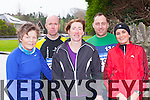 Competing in the Beaufort 10km road race on New Years day were l-r: Mary Murphy, Stephen Griffin Beaufort, Karl Daly Milltown, Mary McSweeney and Anna Collins Beaufort