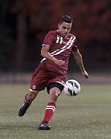 Boston College forward/midfielder Diego Medina-Mendez (11).Boston College (maroon) defeated Syracuse University (white/orange), 3-2, at Newton Campus Field, on October 8, 2013.