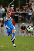 Heather Mitts (2) of the Boston Breakers. Sky Blue FC defeated the Boston Breakers 2-1 during a Women's Professional Soccer match at Yurcak Field in Piscataway, NJ, on May 31, 2009.