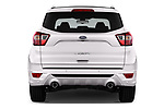 Straight rear view of a 2017 Ford Kuga Vignale 5 Door SUV stock images