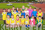 Dromid/Caherdaniel runners at the Denny Kerry Community Games finals in Castleisland on Saturday front row l-r: Briana O'Sullivan, Orla Daly, Rachel Dwyer, Aoife Dwyer, Holly Galvin, Joni Curran, Jack O'Shea. Back row: Ellie Cournane, Oisin Breen,james Curran, Grace Curran, Abby Curran, Zach Fayen, Jamie Gleeson, Siofra O'Shea, Leanne O'Sullivan, Laura Dwyer, Keith Gleeson and Evan O'Shea