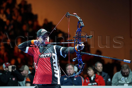 17.01.2016. Nimes, France. The Arc club Nimes Indoor World Championships of Archery.  Schloesser Mike (NED)