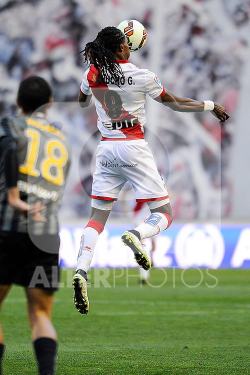 Rayo Vallecano´s Manucho during 2014-15 La Liga match between Rayo Vallecano and Malaga CF at Rayo Vallecano stadium in Madrid, Spain. March 21, 2015. (ALTERPHOTOS/Luis Fernandez)