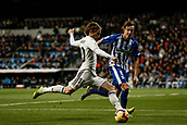 3rd February 2019, Santiago Bernabeu, Madrid, Spain; La Liga football, Real Madrid versus Alaves; Luka Modric (Real Madrid)  in shooting action during the match