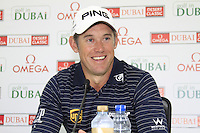 Lee Westwood (ENG) after taking the overnight lead on -15 after Saturday's Round 3 of the 2012 Omega Dubai Desert Classic at Emirates Golf Club Majlis Course, Dubai, United Arab Emirates, 11th February 2012(Photo Eoin Clarke/www.golffile.ie)