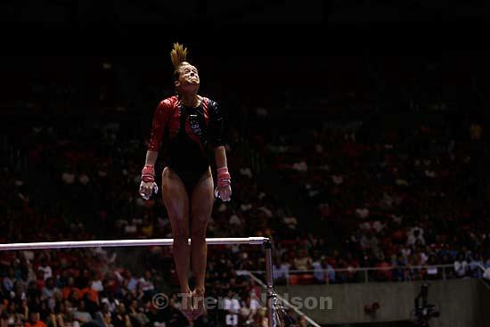 nebraska athlete. NCAA Women's Gymnastics Championships at the Huntsman Center