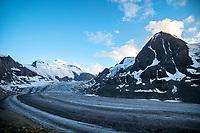 The Grand Combin and Glacier de Corbassière at sunset, Val de Bagnes, Switzerland