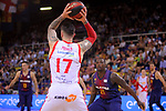 League ACB-ENDESA 2017/2018.<br /> PlayOff-Semifinal-Game: 3<br /> FC Barcelona Lassa vs Kirolbet Baskonia: 67-65.<br /> Vincent Poirier.