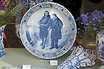 Antique blue and white deftware china, Delft, Netherlands