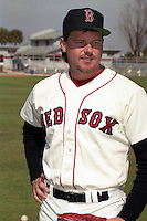 Boston Red Sox Roger Clemens during spring training circa 1990 at Chain of Lakes Park in Winter Haven, Florida.  (MJA/Four Seam Images)
