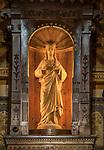 Serce Jezusa - figura w obrotowej części ołtarza kościoła w Kościelisku, autorstwa Wojciecha Brzegi. Zakopane.