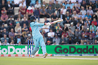 Joe Root (England) pulls to the square boundary for four during England vs West Indies, ICC World Cup Cricket at the Hampshire Bowl on 14th June 2019