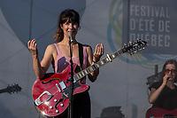 Maude-Audet performs at the Festival d'ete de Quebec (Quebec Summer Festival) on July 5, 2018.