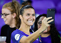 Orlando, FL - Saturday July 07, 2018: Carson Pickett during the second half of a regular season National Women's Soccer League (NWSL) match between the Orlando Pride and the Washington Spirit at Orlando City Stadium. Orlando defeated Washington 2-1.