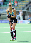 The Hague, Netherlands, June 14: Carla Rebecchi #11 of Argentina gestures during the field hockey bronze medal match (Women) between USA and Argentina on June 14, 2014 during the World Cup 2014 at Kyocera Stadium in The Hague, Netherlands. Final score 2-1 (2-1)  (Photo by Dirk Markgraf / www.265-images.com) *** Local caption ***