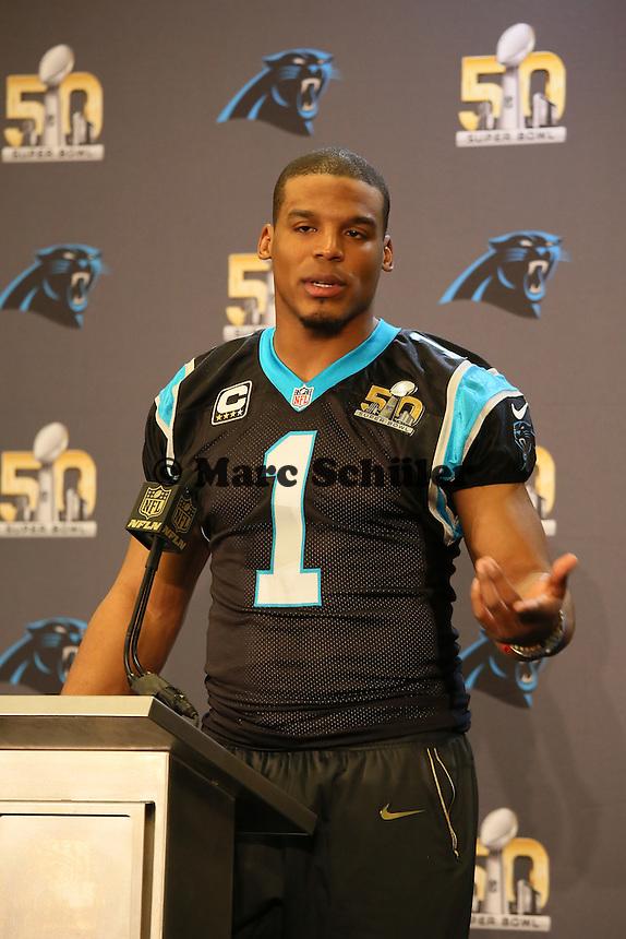 QB Cam Newton (Panthers) - Super Bowl 50 Carolina Panthers PK, Convention Center San Jose