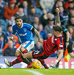 07.04.2018 Rangers v Dundee:<br /> Daniel Candeias and Josh Meekings