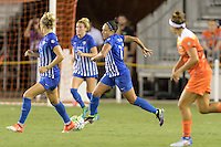 Houston, TX - Sunday Sept. 11, 2016: Kyah Simon during a regular season National Women's Soccer League (NWSL) match between the Houston Dash and the Boston Breakers at BBVA Compass Stadium.