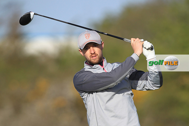 D Hallisey (Muskerry) on the 4th tee during Round 1 of the Munster Stroke Play Championship at Cork Golf Club on Saturday 30th April 2016.<br /> Picture:  Thos Caffrey / www.golffile.ie