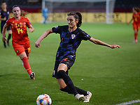 20190903 - LEUVEN , BELGIUM : croatian Antonia Dulcic pictured during the female soccer game between the Belgian Red Flames and Croatia , the first womensoccer game for Belgium in the qualification for the European Championship round in group H for England 2021, Tuesday 3 th September 2019 at the King Power Stadion Den Dreef in Leuven , Belgium. PHOTO SPORTPIX.BE | DAVID CATRY