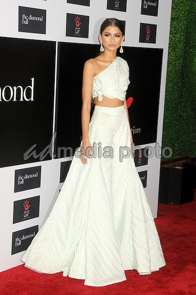 10 December 2015 - Santa Monica, California - Zendaya Coleman. 2nd Annual Diamond Ball held at Barker Hangar. Photo Credit: Byron Purvis/AdMedia