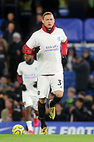 Nemanja Matic of Manchester United warms up ahead of kick-off wearing a Kick Off a Conversation T-shirt during Chelsea vs Manchester United, Premier League Football at Stamford Bridge on 17th February 2020