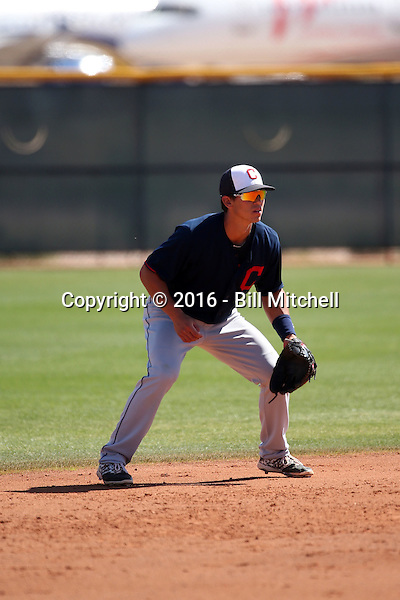 Sam Haggerty - Cleveland Indians 2016 spring training (Bill Mitchell)