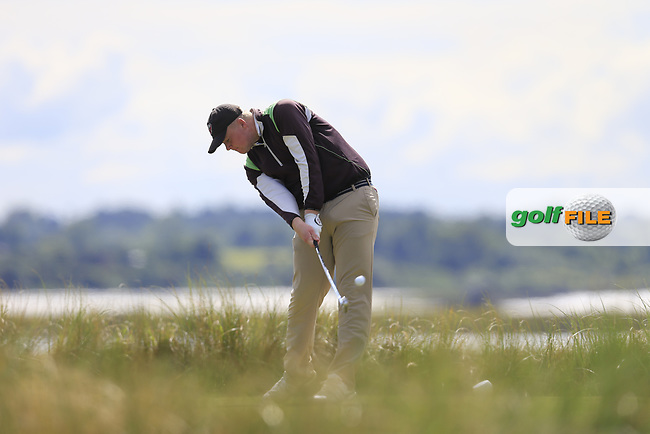 Sam Sweeney (USA) during the 2nd round of the East of Ireland championship, Co Louth Golf Club, Baltray, Co Louth, Ireland. 03/06/2017<br /> Picture: Golffile | Fran Caffrey<br /> <br /> <br /> All photo usage must carry mandatory copyright credit (&copy; Golffile | Fran Caffrey)