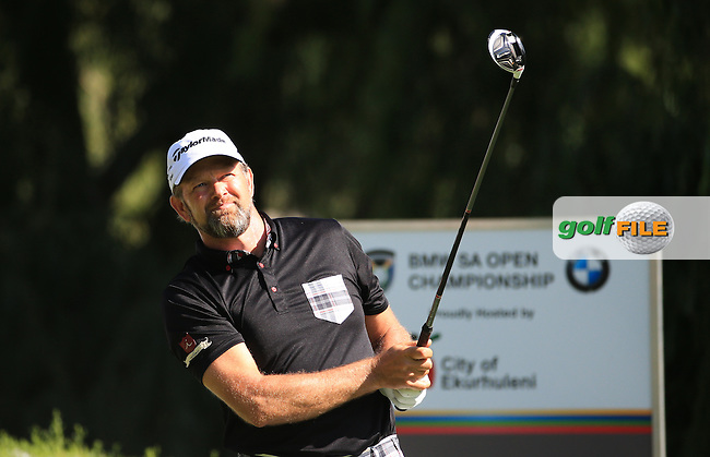 Retief Goosen (RSA) in action during Round Two of the 2016 BMW SA Open hosted by City of Ekurhuleni, played at the Glendower Golf Club, Gauteng, Johannesburg, South Africa.  08/01/2016. Picture: Golffile | David Lloyd<br /> <br /> All photos usage must carry mandatory copyright credit (&copy; Golffile | David Lloyd)