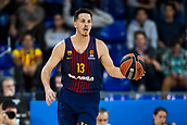 3rd November 2017, Palau Blaugrana, Barcelona, Spain; Turkish Airlines Euroleague Basketball, FC Barcelona Lassa versus Olympiacos Piraeus; 13 HEURTEL, THOMAS of FC Barcelona Lassa in action during the match of round 5 of regular season in the 2017/2018 Turkish Airlines EuroLeague