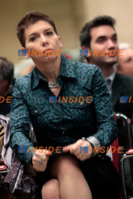 Irene Pivetti.Roma 05/02/2013 La Destra presenta il Programma elettorale del candidato alla Presidenza della Regione Lazio..Photo Samantha Zucchi Insidefoto