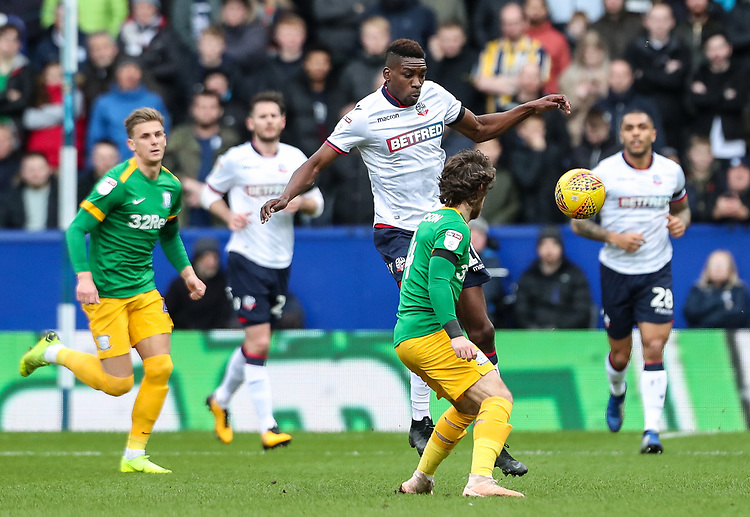 Bolton Wanderers' Sammy Ameobi breaks <br /> <br /> Photographer Andrew Kearns/CameraSport<br /> <br /> The EFL Sky Bet Championship - Bolton Wanderers v Preston North End - Saturday 9th February 2019 - University of Bolton Stadium - Bolton<br /> <br /> World Copyright &copy; 2019 CameraSport. All rights reserved. 43 Linden Ave. Countesthorpe. Leicester. England. LE8 5PG - Tel: +44 (0) 116 277 4147 - admin@camerasport.com - www.camerasport.com