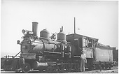 3/4 fireman's-side view of D&amp;RGW #268 posing with a lady admirer.<br /> D&amp;RGW