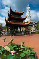 Female Buddha Statue and Pagoda in Ho Quoc Temple, Phuquoc, Vietnam