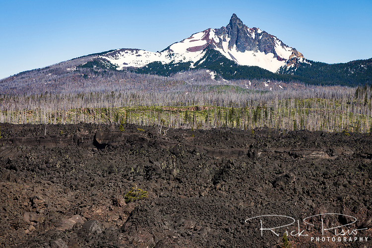 Mount Washington is a shield volcano in Oregon's Cascade Range in the Willamette National Forest. Mt Washington's main peak is a volcanic plug that was heavily eroded by glaciers in the last ice age.