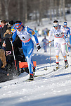 FALUN, SWEDEN - March 23: (L-R) Kerttu Niksanen of Finland (FIN) and Charlotte Kalla of Sweden (SWE) during the Viessmann Ladies Classic Mass start 10km race at the FIS Cross Country World Cup Final on March 23, 2013 in Falun, Sweden. The race was won by Marit Bjoergen of Norway (NOR), 2nd place Therese Johaug of Norway (NOR) and 3rd place Heidi Weng of Norway (NOR). (Photo by Dirk Markgraf)