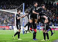 Burnley's Ashley Barnes celebrates scoring his side's second goal with his team mates<br /> <br /> Photographer Andrew Kearns/CameraSport<br /> <br /> The Premier League - Huddersfield Town v Burnley - Wednesday 2nd January 2019 - John Smith's Stadium - Huddersfield<br /> <br /> World Copyright © 2019 CameraSport. All rights reserved. 43 Linden Ave. Countesthorpe. Leicester. England. LE8 5PG - Tel: +44 (0) 116 277 4147 - admin@camerasport.com - www.camerasport.com