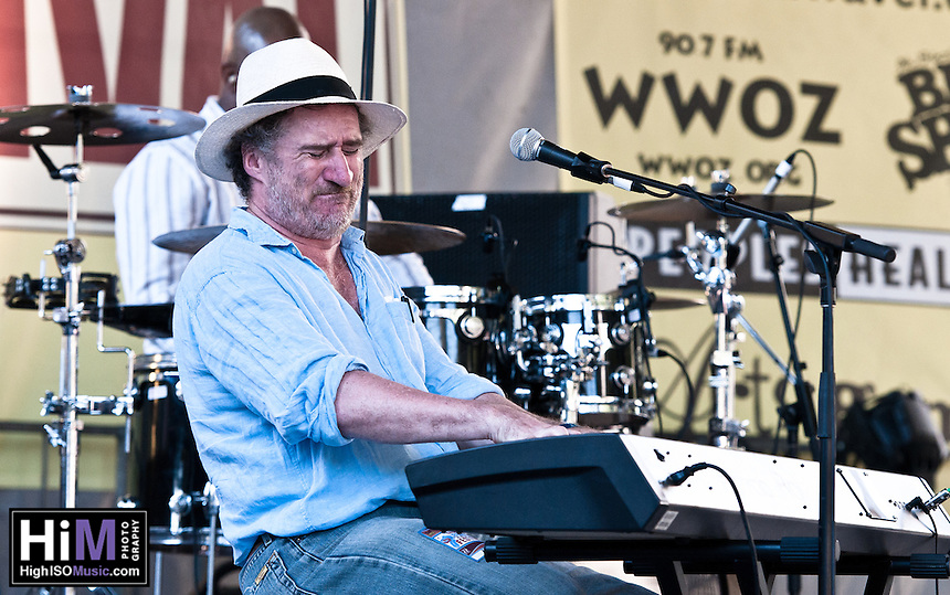 Jon Cleary and his band playing at the 2010 Blues and BBQ Festival in New Orleans.