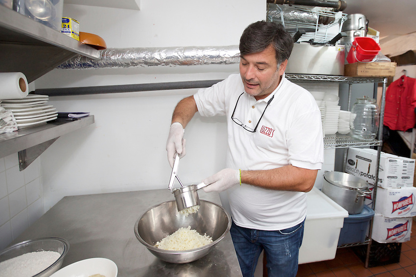New York, NY - July 21, 2016: Making gnocchi at Gnoccheria by Luzzo's in the East Village.<br /> <br /> CREDIT: Clay Williams for Edible Manhattan.<br /> <br /> &copy; Clay Williams / claywilliamsphoto.com