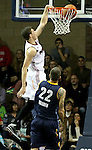 SIOUX FALLS, SD - NOVEMBER 22: Tyler Johnson #10 from the Sioux Falls Skyforce slams home two points past Josh Warren #22 from the Iowa Energy in the second quarter of their game Saturday night at the Sanford Pentagon. (Photo by Dave Eggen/Inertia)