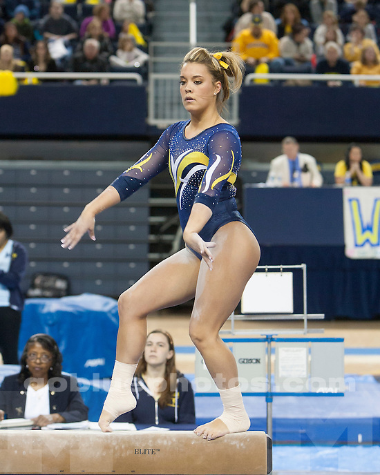 The University of Michigan women's gymnastics team beat Iowa State, 196.825-195.125, at Crisler Center in Ann Arbor, Mich., on Senior Night, March 16, 2013.