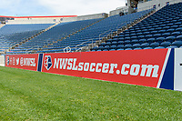 Bridgeview, IL - Saturday April 22, 2017: Sponsor signboards during a regular season National Women's Soccer League (NWSL) match between the Chicago Red Stars and FC Kansas City at Toyota Park.
