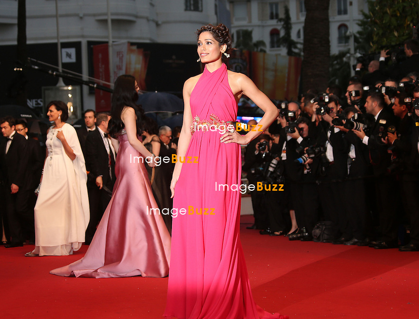 CPE/Freida Pinto attends the Opening Ceremony and 'The Great Gatsby' Premiere during the 66th Annual Cannes Film Festival at the Theatre Lumiere on May 15, 2013 in Cannes, France.