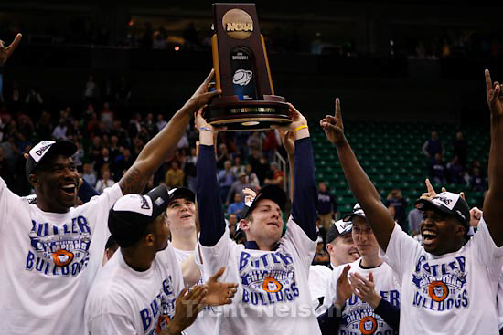 Trent Nelson  |  The Salt Lake Tribune.Salt Lake City - Butler vs. Kansas State, NCAA West Regional (Final Eight), Saturday, March 27, 2010. trophy presentation