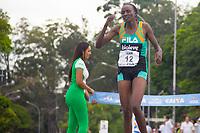 SAO PAULO, SP, 09.04.2016 -MARATONA-SP- Leah Jerotich (Quenia) ,conquista o primeiro lugar nos 42 KM com o tempo de 02:41:58 durante a 23ª edição da Maratona Internacional de São Paulo, realizado na cidade de São Paulo, SP, neste domingo (09).(Foto: Danilo Fernandes/Brazil Photo Press)